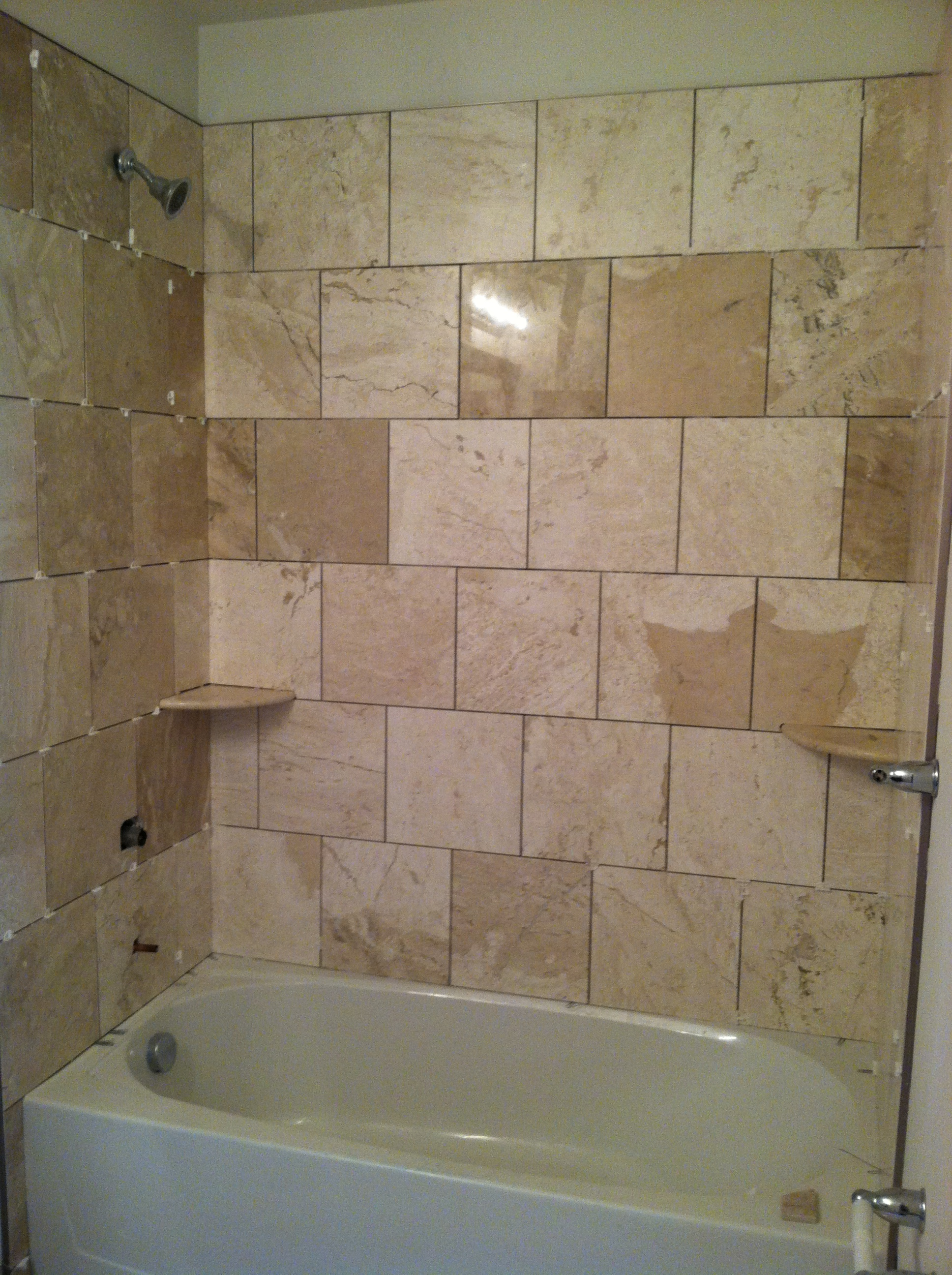 Design with 12″ tiles. A cost saving approach to Bath and Shower ...