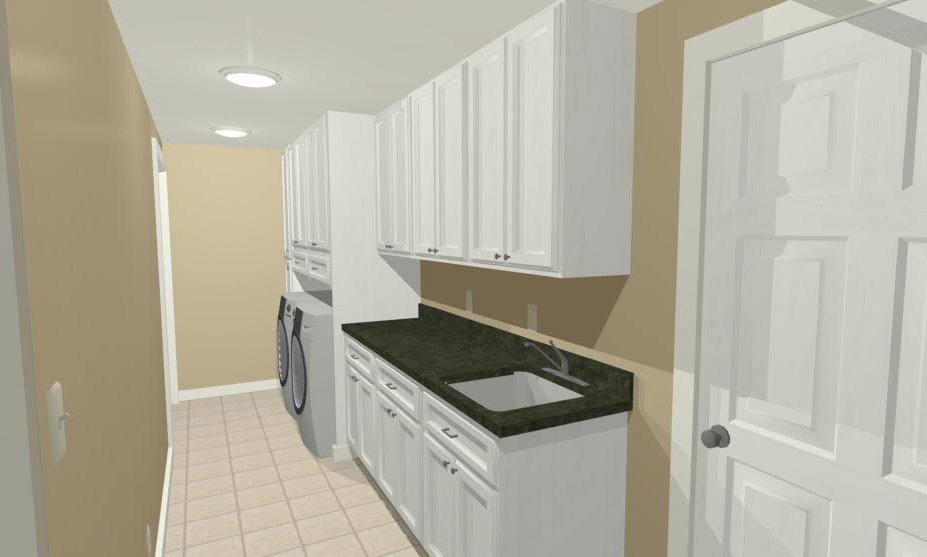 RENDERING LAUNDRY ROOM RENOVATION SOUTH JERSEY CONTRACTOR NEXT LEVEL REMODELING
