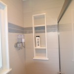 great shower niche for additional storage