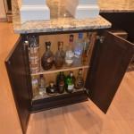 liquor cabinet for the kitchen renovation