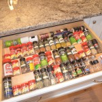 great spice storage for this kitchen