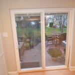 new patio sliding door off of the kitchen