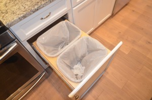 pull out trash storage for the south jersey blackwood nj kitchen