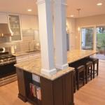 pillars in the kitchen